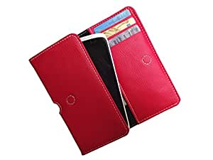ATV PU Leather Imperial RED Pouch Case Flip Cover For SAMSUNG GALAXY CORE LTE