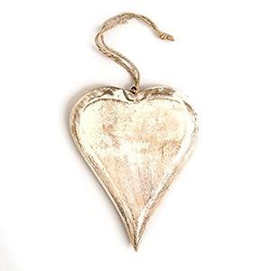 20cm Whitewash Shabby Chic Hanging Heart por Dropship en Bebe Hogar
