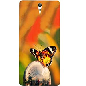 Casotec Butterfly Metal Ball Design Hard Back Case Cover for Sony Xperia C5 Ultra Dual