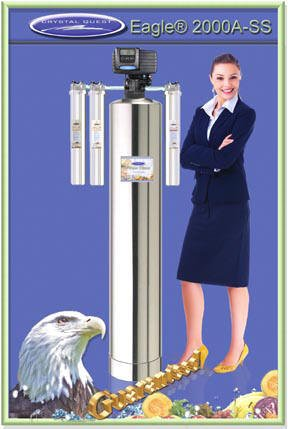 Crystal Questeagle Full Size Whole House Water Filters Stainless Steel Tank 750000 Gallons