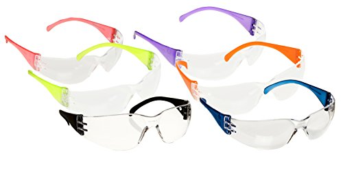 Safety Glasses Intruder Multi Color Clear Lens 12/box