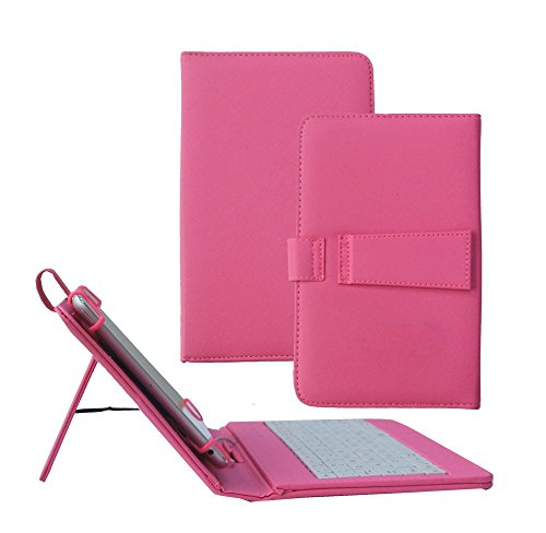 Click to buy Tsmine Samsung Galaxy Tab A 8.0 Tablet Keyboard Case - Quality Micro USB Keyboard W/ Premium PU Leather Case Stand Cover for Samsung Galaxy Tab A 8.0 SM-P350 P355 P357 Tablet, Hot Pink - From only $15.89