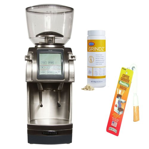 Baratza Forte-AP (All Purpose) Ceramic Flat Burr Coffee Grinder + Coffee Grinder Cleaner + Coffee Grinder Dusting Brush