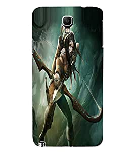 ColourCraft The Warrior Girl Design Back Case Cover for SAMSUNG GALAXY NOTE 3 NEO DUOS N7502