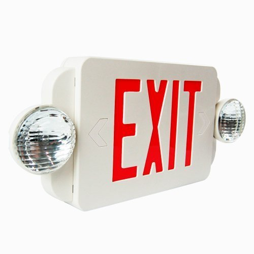 red exit sign emergency light combo with battery back up ul9 ebay. Black Bedroom Furniture Sets. Home Design Ideas