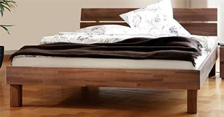 Massivholzbett Alexia aus Buche walnuss geölt Breite 97 cm Liegefläche 90x200 Pharao24