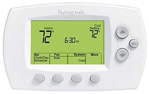 Honeywell TH6110D1005/U FocusPRO 6000 Programmable Thermostat, White (Honeywell Thermostat Th6000 compare prices)