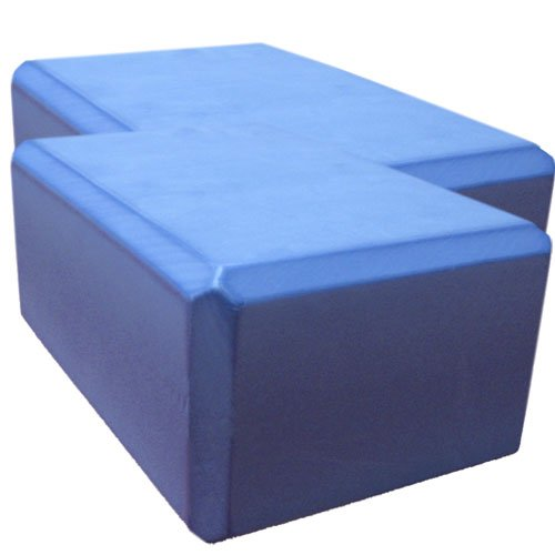 Nu-Source Yoga Block (2-Piece), Sky Blue, 9 x 6 x 4-Inch