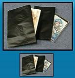 黒ビニール封筒 角形6号 【100枚】 ■通販に最適!中身の透けない防水封筒!■