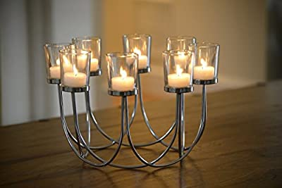 Beautiful Tea Light Glass Candle Holder Wedding Christmas Table Centrepiece Decoration