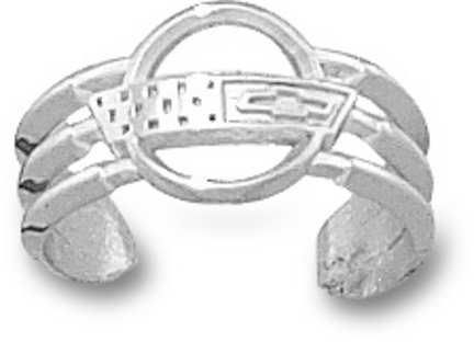 Chevy Corvette C4 Logo Toe Ring - Sterling Silver Jewelry