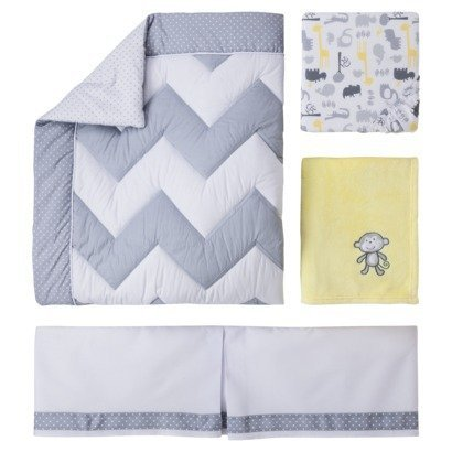 Circo Zigs n Zags 4 Piece Crib Bedding Set Boy Girl