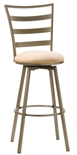 Hillsdale Linden 30 Inch Swivel Barstool Champagne Finish