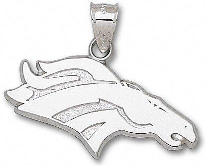 Denver Broncos 5/8'' Sterling Silver Bronco Logo 2D Pendant