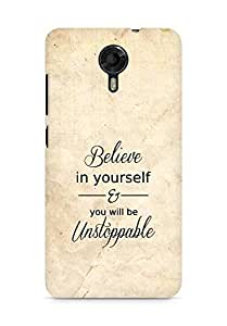 AMEZ believe in yourself and you will be unstoppable Back Cover For Micromax Canvas Xpress 2 E313