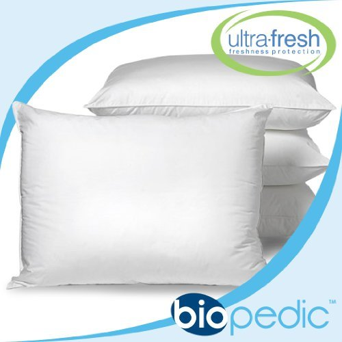 Buy BioPEDIC UltraFresh Anti-bacterial 4-Pack Bed Pillows, Standard Size, White