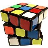 Newisland 3x3 Pros Speed Cube Optimum Structure Great Corner Cutting Eco-Friendly Plastics Puzzle Cube Lightning (Black)