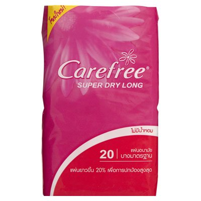 Carefree Long Panty Liner Unscented 20 Pads