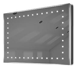 Auto Colour Change Ultra-Slim Bathroom Mirror With Demister & Sensor K164Rgb