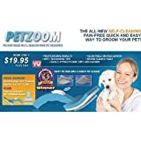 PetZoom Self Cleaning Grooming Brushes (set of 2) with Bonus Trimmer Attachment