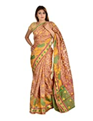 Asmara Collection Women's Cotton Silk Saree (SARARH00055, Multicolor)