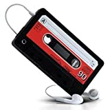 Retro Cassette Tape Style Silicone Skin Case for iPhone 4 - BLACK