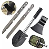 Gardening 4 In 1 Multifunctional Carbon Steel Shovel Axe Knife Saw Outdoor Camping Portable Tool Kit