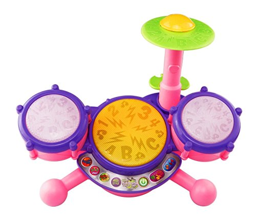 Vtech Kidibeats Pink Exclusive Drum Set Kids Music Girl Toys Toddlers Baby Gift (Fisher Drum Set compare prices)
