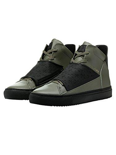 Religion Uomo Relm similpelle & Neoprene Boots, Verde, 42
