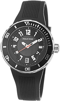 Philip Stein Men's 34-BB-RB Extreme Black Rubber Strap Watch