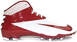 Nike Vapor Pro 3/4 TD Mid Molded Men\'s Football Cleats, White/Maroon, Size 14.5