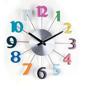 Orologio da parete con numeri colorati