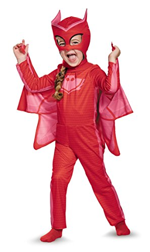 Red Disguise Owlette Classic Toddler PJ Masks Costume for Halloween