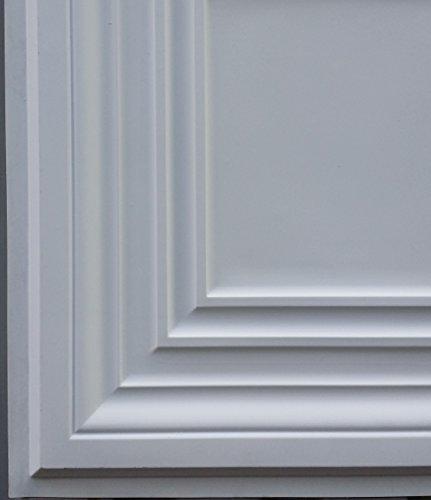 PL05 en similicuir Intérieur Carreau de plafond Blanc mat pour décoration en relief de fond photosgraphie Panneaux muraux 10pieces/lot