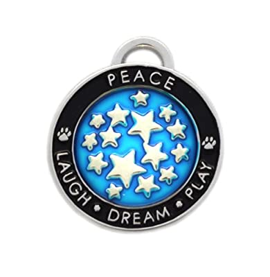 Luxepets Pet Collar Charm, Star, Blue
