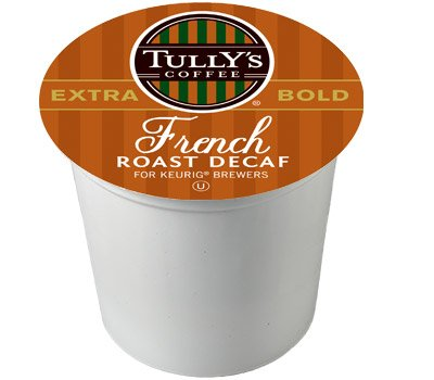 48 Count - Tully's Coffee Decaffeinated French Roast K-Cup For Keurig Brewers