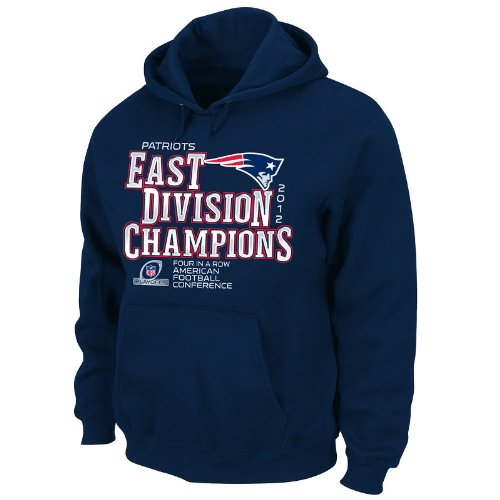 NFL New England Patriots 2012 AFC East Division Champs Men's Hoodie, Blue