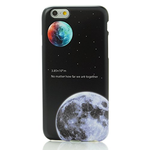 YCMCOVER iPhone 6 Plus 6S Plus Case Heavy Duty TPU Soft Cover Bumper Earth Moon