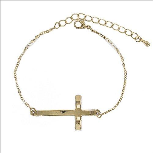 Metal Texture Cross Bracelet #041381