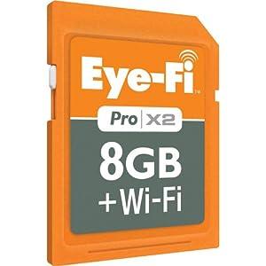 Eye-Fi Pro X2 8 GB Class 6 SDHC Wireless Flash Memory Card EYE-FI-8PC