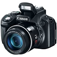 Canon PowerShot SX50 HS 12.1MP Point-and-Shoot Digital Camera (Black) with 4GB SD Card, Camera Case