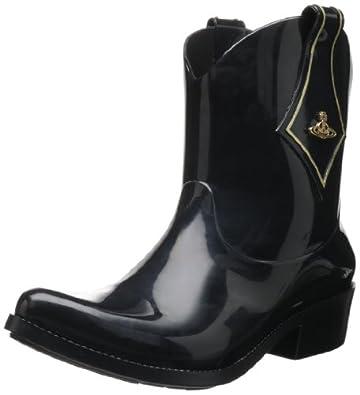 Vivienne Westwood Women's Melissa Protection II Boot,Black,5 M US