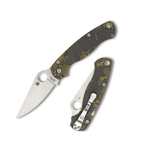 Spyderco ParaMilitary2 Camo G-10 PlainEdge Knife