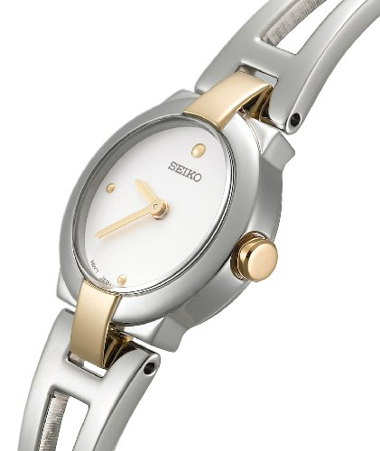 Seiko Women's SUJ704 Dress Two-Tone Bangle Watch