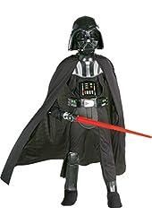 Boys Darth Vader Kids Child Fancy Dress Party Halloween Costume