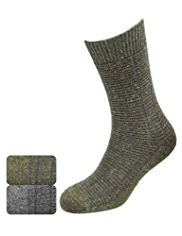 2 Pairs of North Coast Assorted Socks with Wool