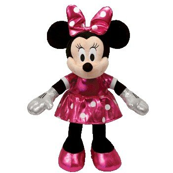 Disney Ty Minnie Mouse - Sparkle Pink Small Plush