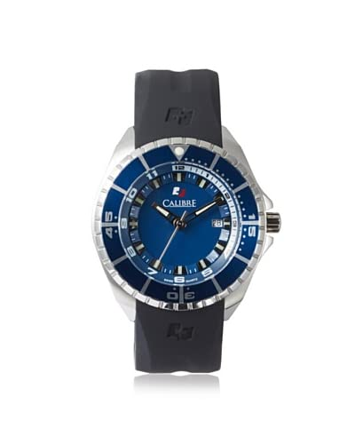 Calibre Men's 4S2-04-001.3 Sealander Black/Blue Rubber Watch