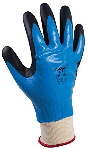 showa-477-x-xl-poliester-nailon-portador-tejido-guantes-multiusos-interior-forrado-acrilico-completo