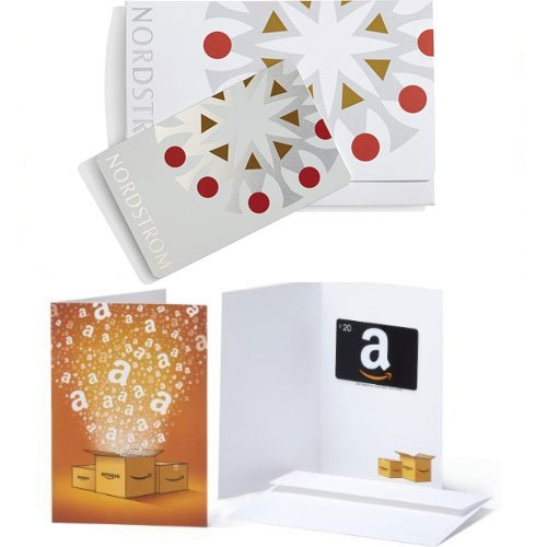 $100 Nordstrom Holiday Shining Star Gift Card and $20 Amazon.com Gift Card